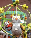 Spice up your child's room with this owl mobile.